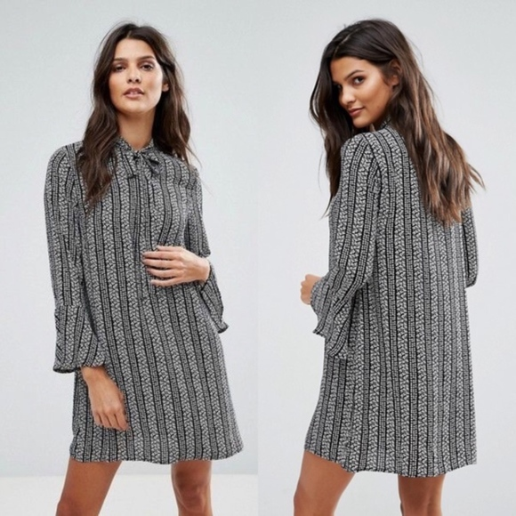 95e77290736 ASOS Dresses | Goldie Janey Striped Printed Shift Dress Small | Poshmark